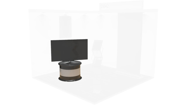 TV on Plinth - Virtual Exhibition Stand Catalogue
