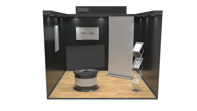 3x3 Centre Aisle Industry UK Virtual Exhibition Stand Catalogue