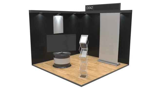 3x3 Corner stand - Virtual Exhibition Stand Catalogue