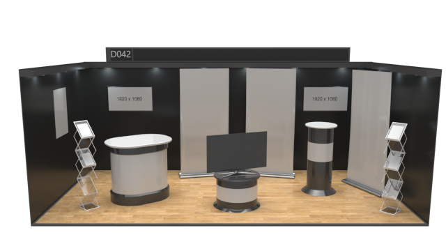 6x3 Aisle Stand - Virtual Exhibition Stand Catalogue