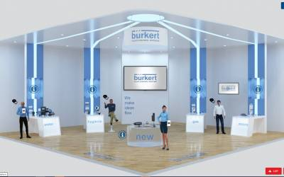 Bürkert goes international with virtual exhibition stands